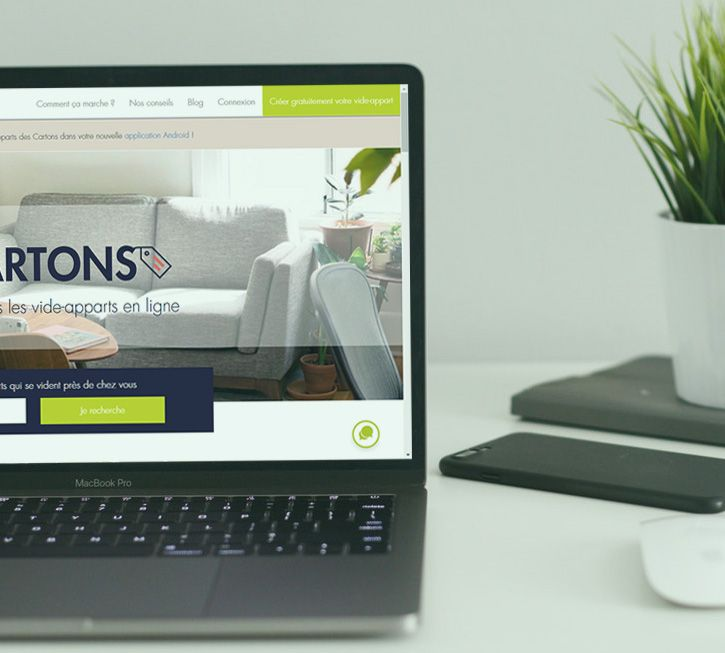 image du site sur laptop